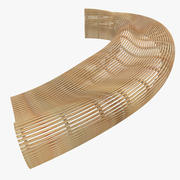 Parametric Abstract Wood Bench Like MP 4 3d model