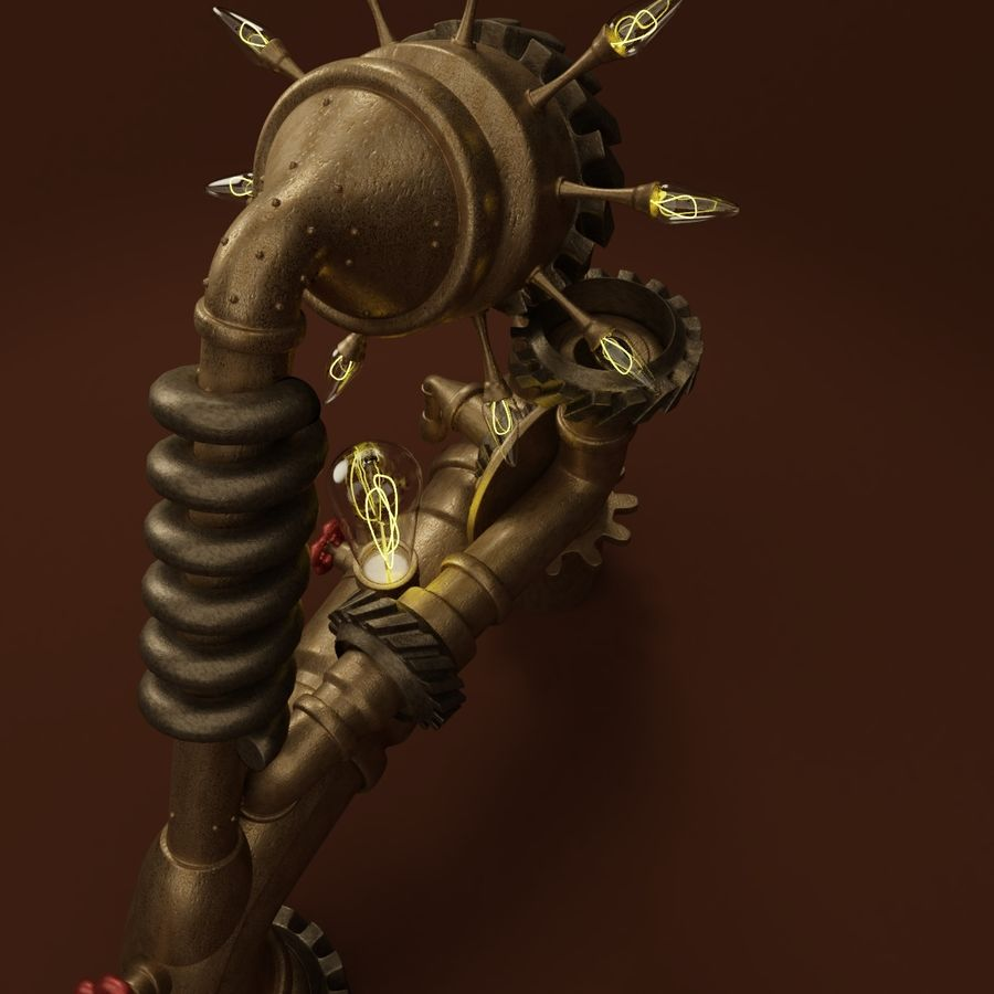 Steampunk A royalty-free 3d model - Preview no. 7