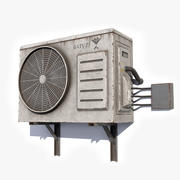 Air Conditioner 2 Low Poly 3d model