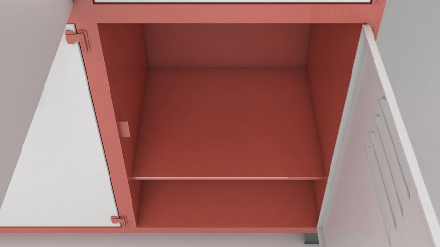 metal storage cabinet furniture royalty-free 3d model - Preview no. 17