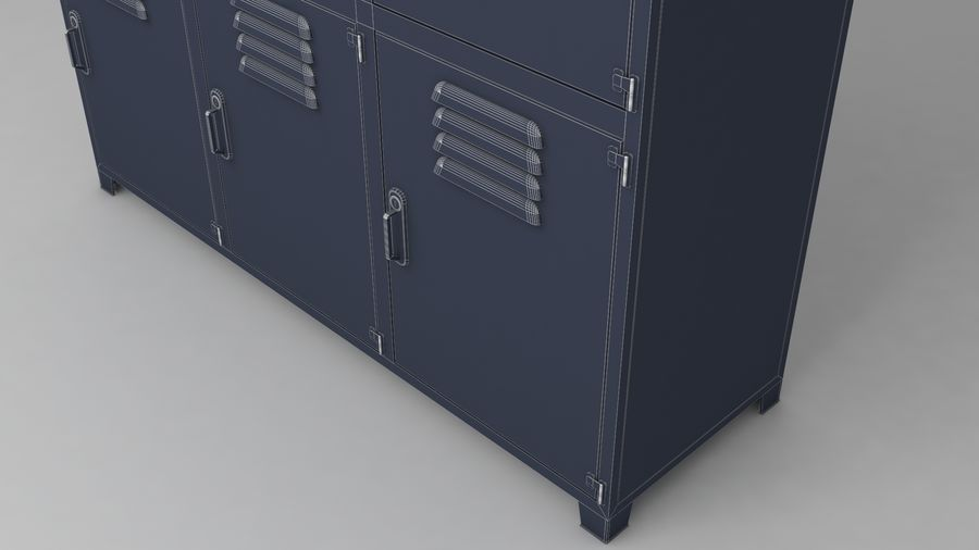 metal storage cabinet furniture royalty-free 3d model - Preview no. 23