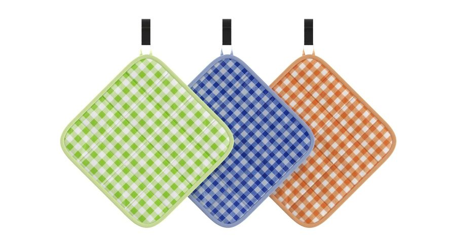 Pot Holder royalty-free 3d model - Preview no. 3
