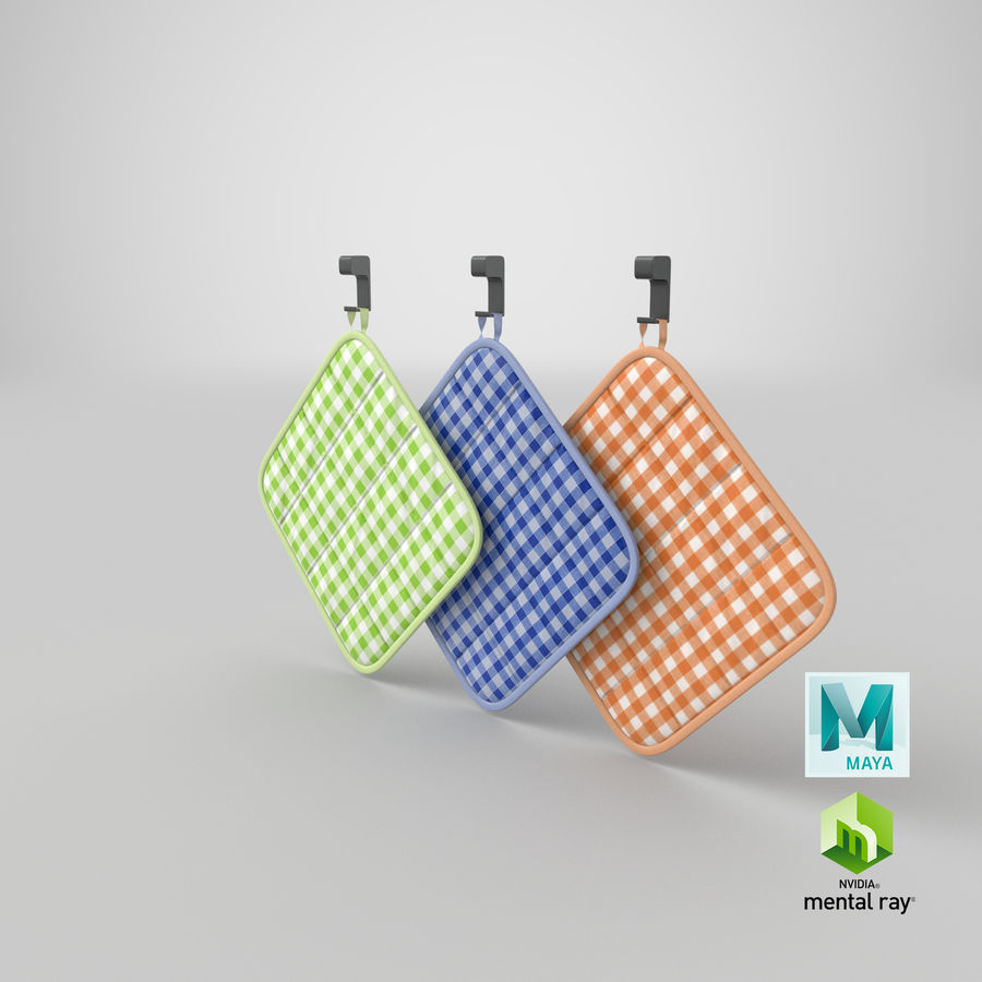 Pot Holder royalty-free 3d model - Preview no. 16