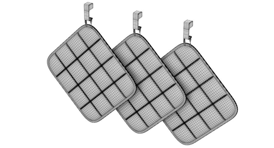 Pot Holder royalty-free 3d model - Preview no. 11