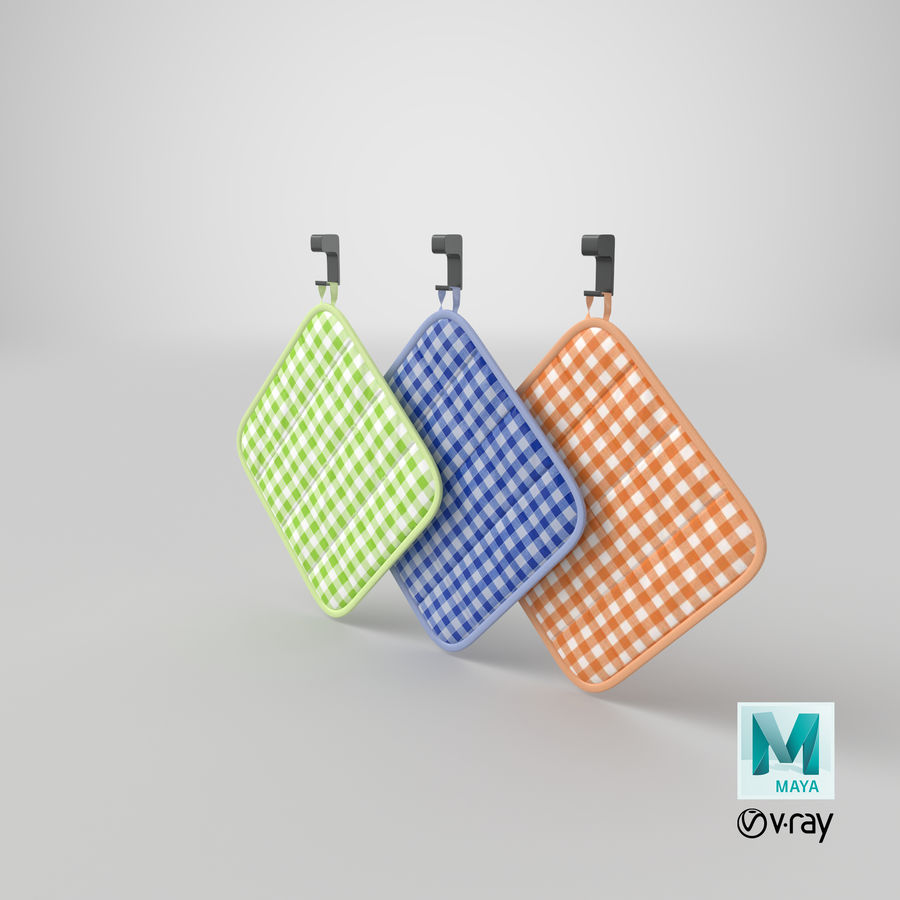 Pot Holder royalty-free 3d model - Preview no. 17