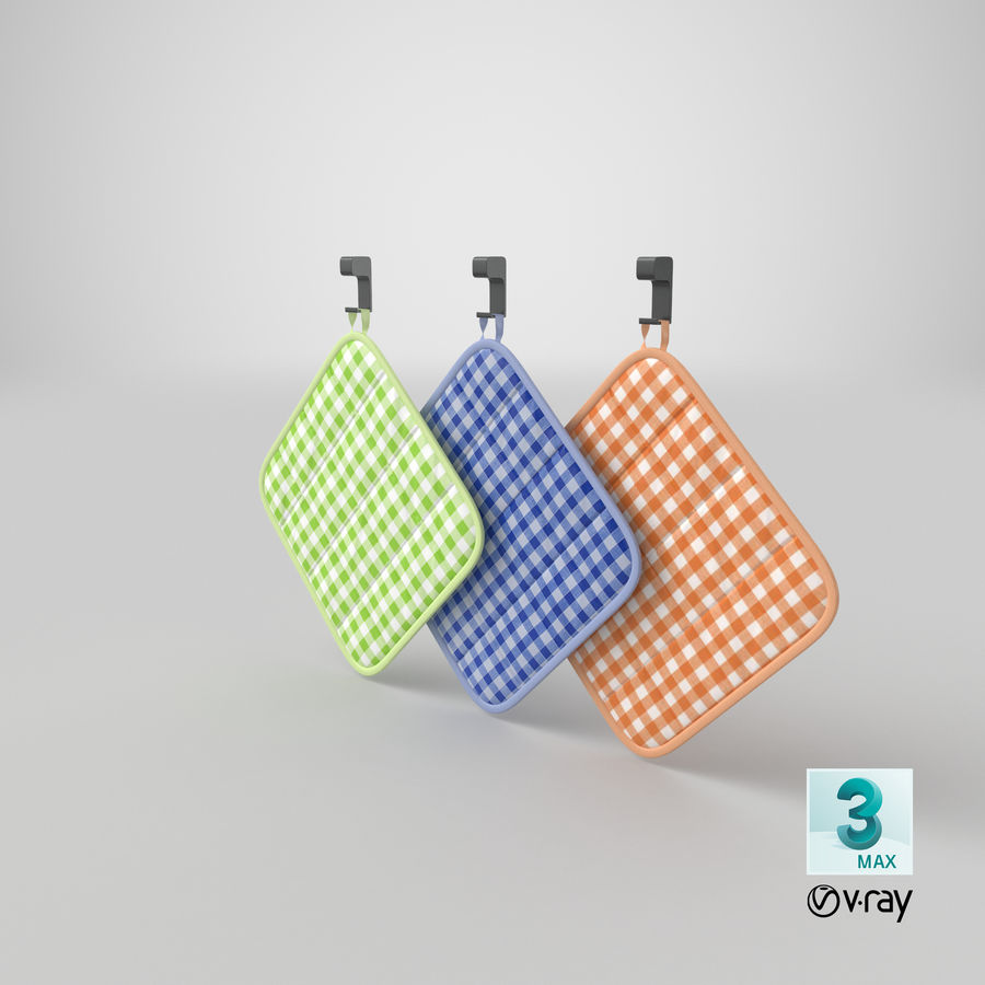 Pot Holder royalty-free 3d model - Preview no. 15