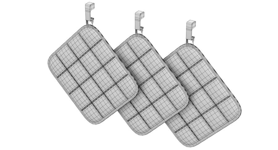 Pot Holder royalty-free 3d model - Preview no. 10