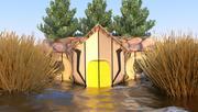 홍수 집 3d model