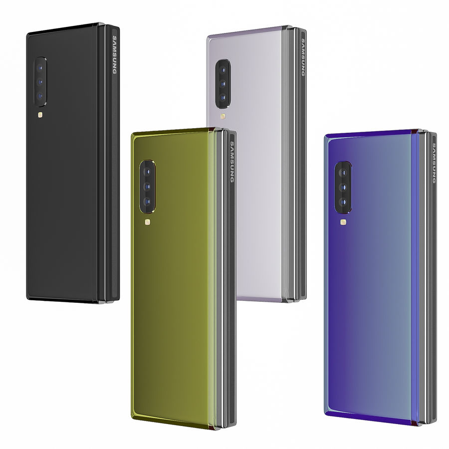 Samsung Galaxy Fold royalty-free 3d model - Preview no. 1