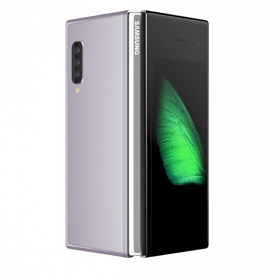 Samsung Galaxy Fold royalty-free 3d model - Preview no. 4