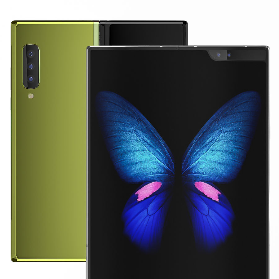 Samsung Galaxy Fold royalty-free 3d model - Preview no. 12