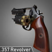 357 revólver modelo 3d