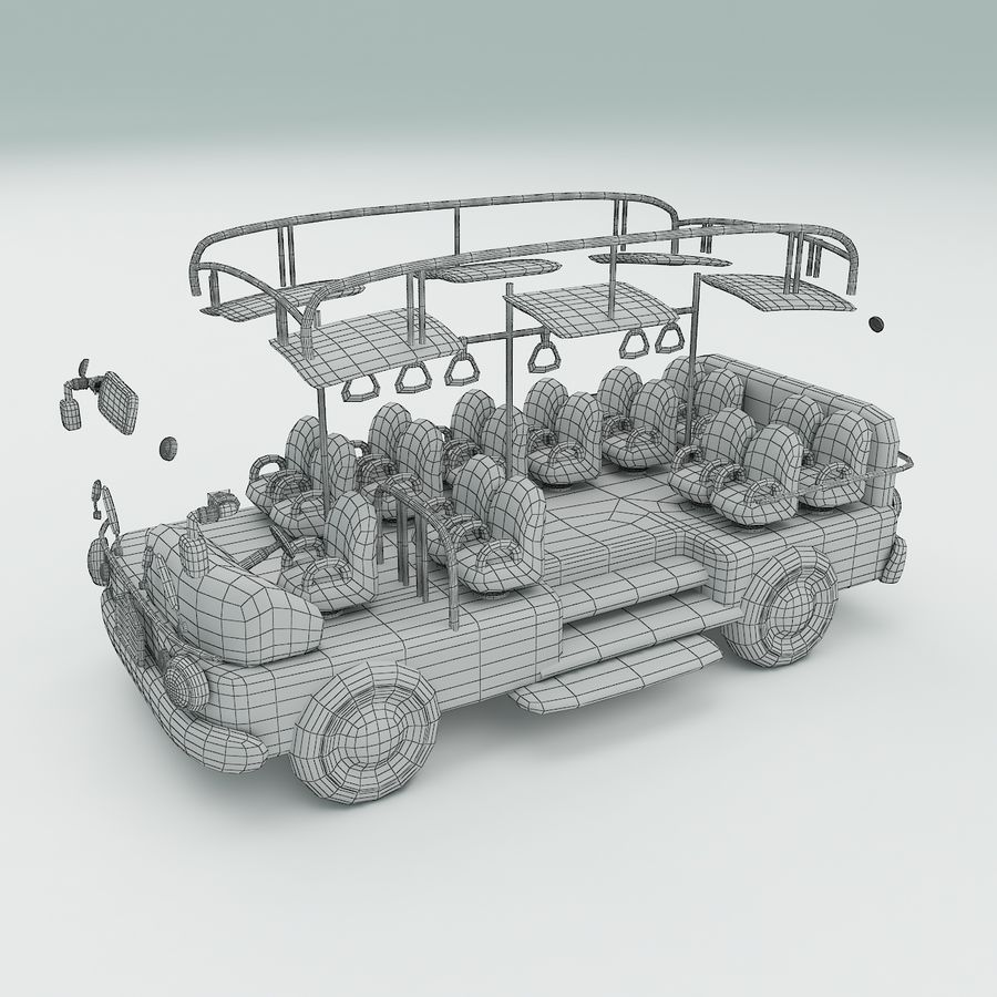 車の漫画 royalty-free 3d model - Preview no. 15