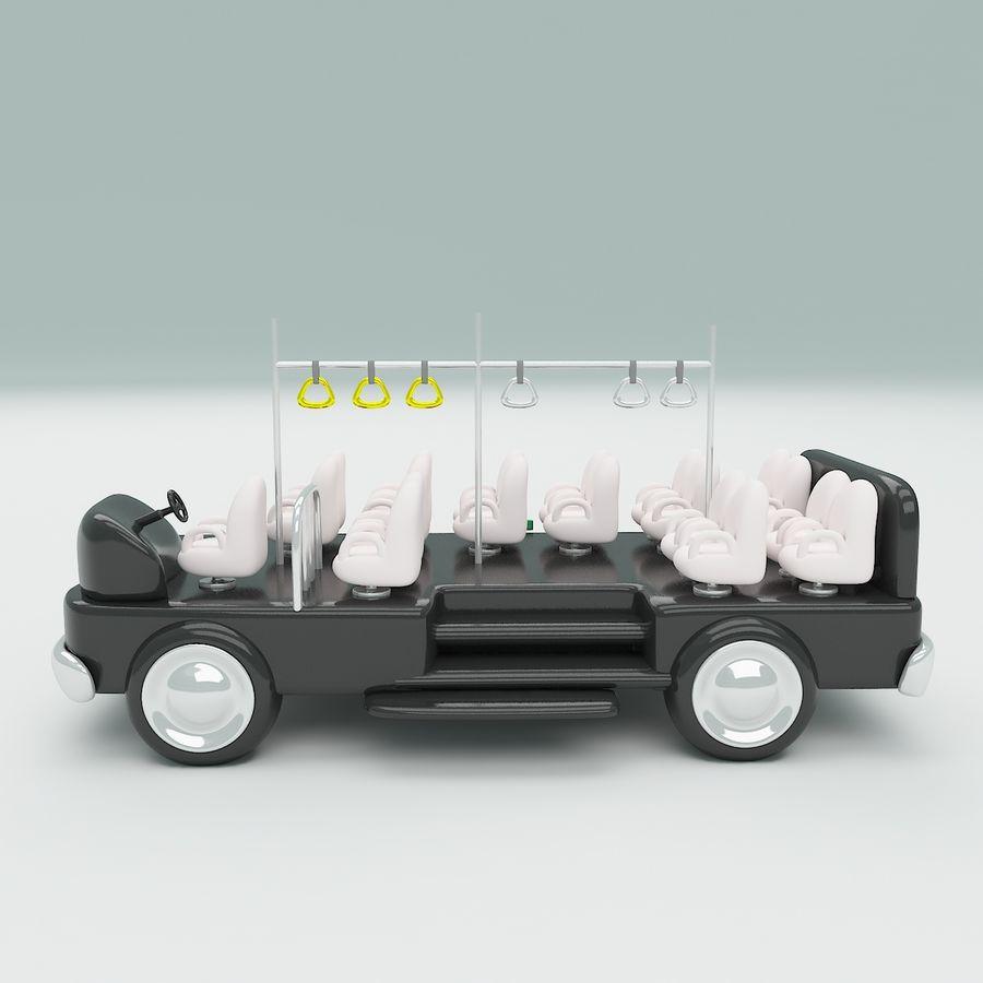 車の漫画 royalty-free 3d model - Preview no. 10