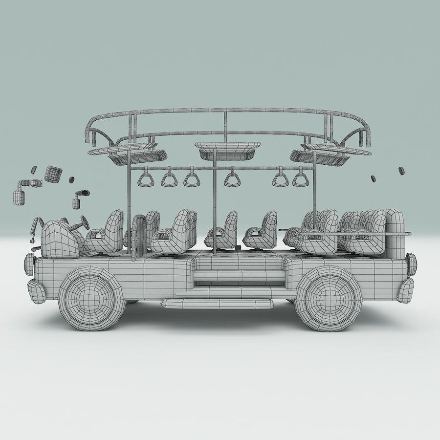 車の漫画 royalty-free 3d model - Preview no. 14