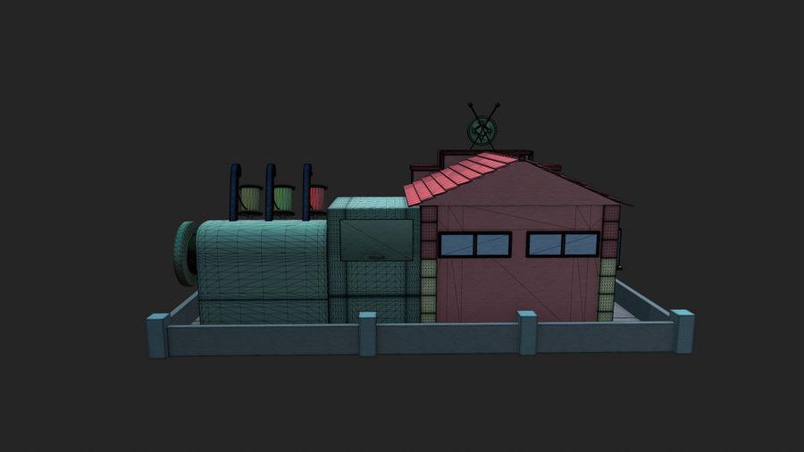 Gestileerde Cartoon textielfabriek royalty-free 3d model - Preview no. 8