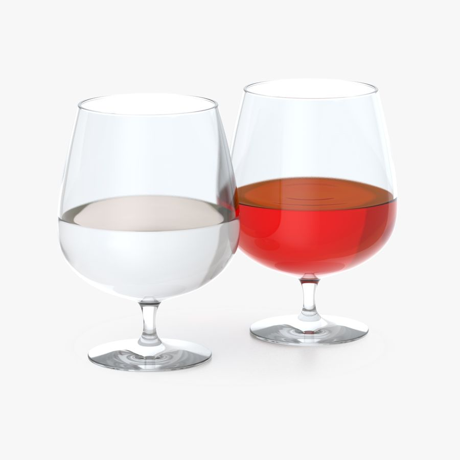 Cognac or Whiskey Glass royalty-free 3d model - Preview no. 1