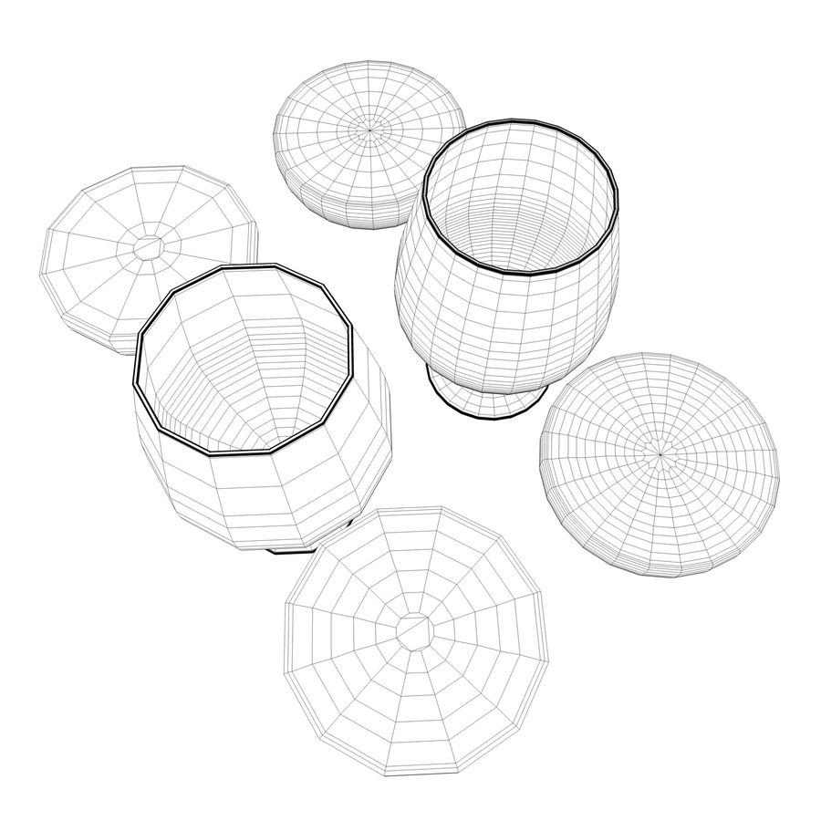 Cognac or Whiskey Glass royalty-free 3d model - Preview no. 7