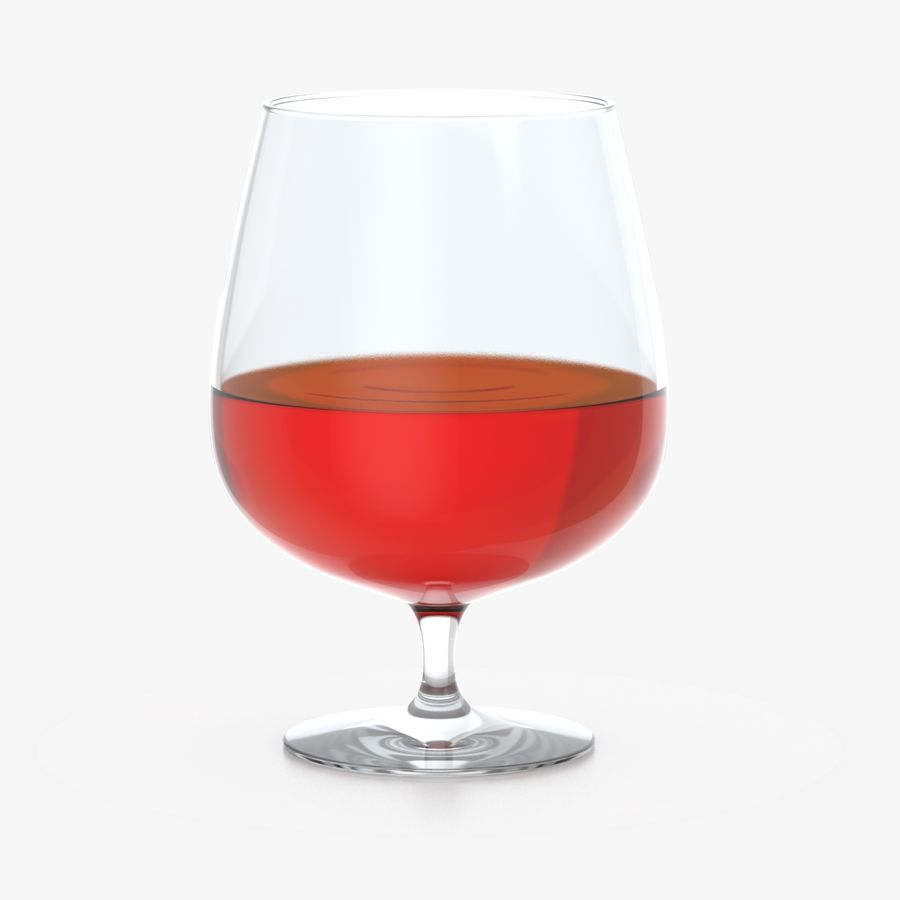 Cognac or Whiskey Glass royalty-free 3d model - Preview no. 4