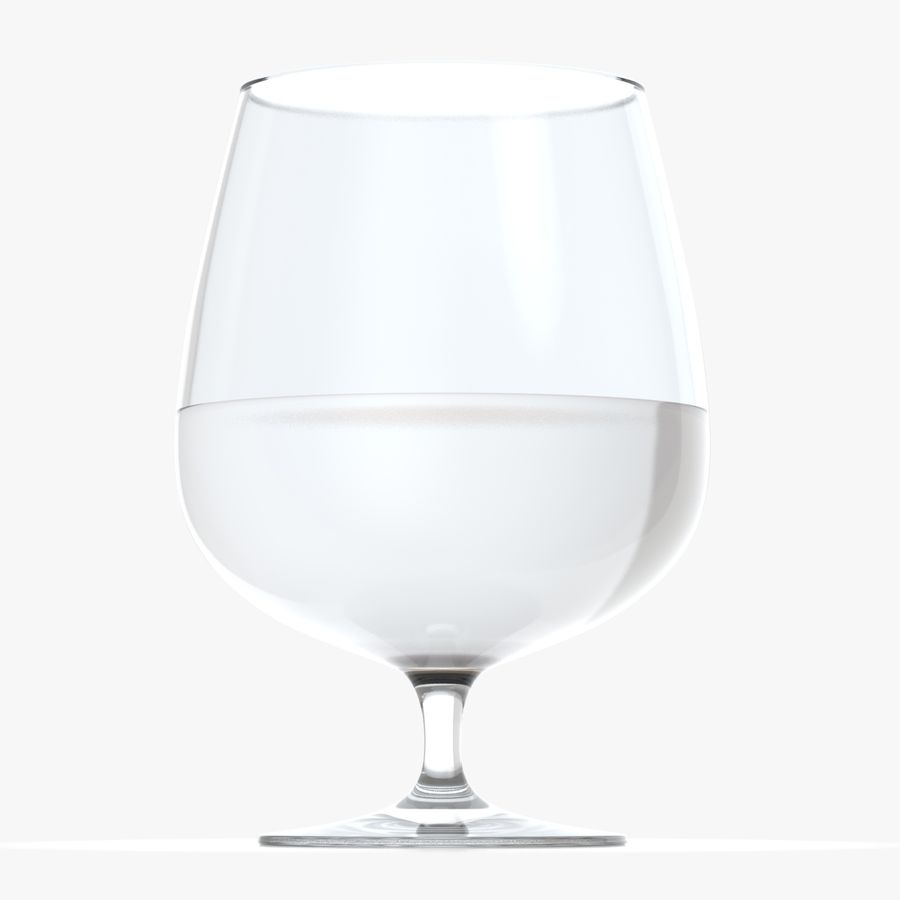 Cognac or Whiskey Glass royalty-free 3d model - Preview no. 6