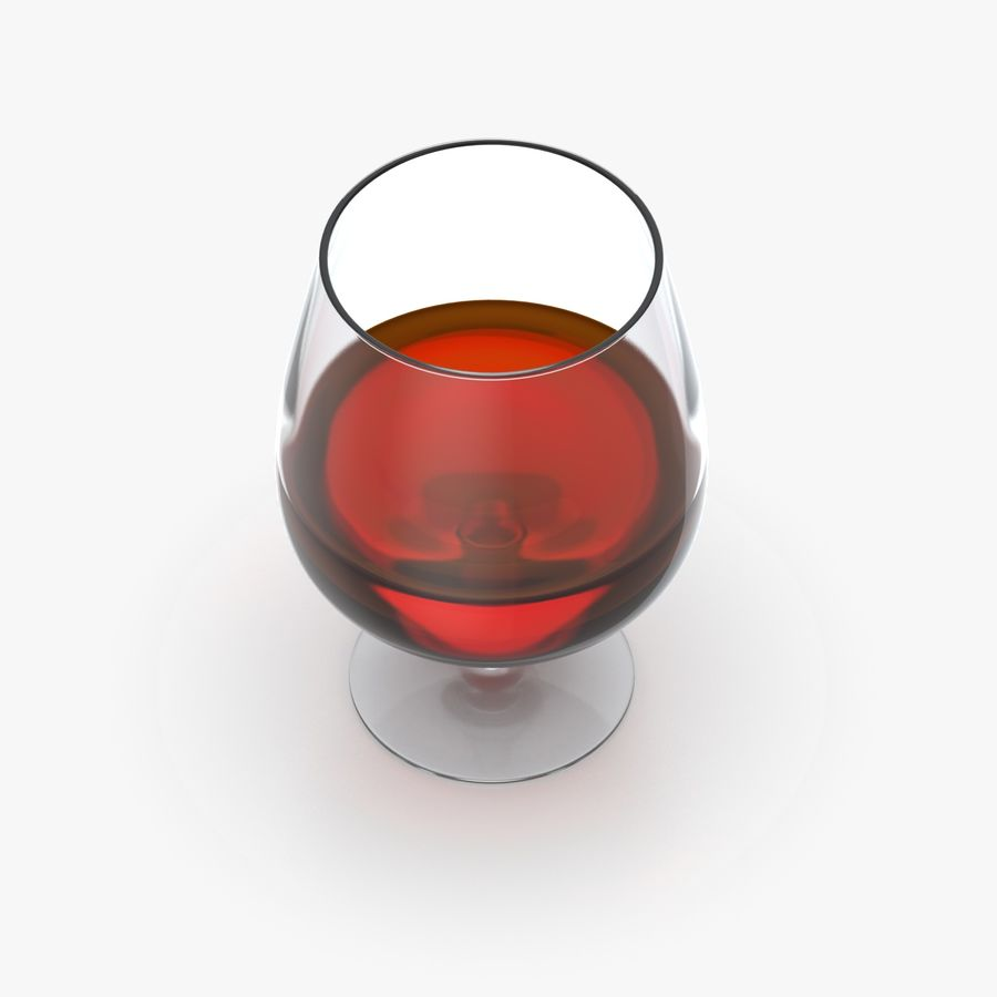 Cognac or Whiskey Glass royalty-free 3d model - Preview no. 5