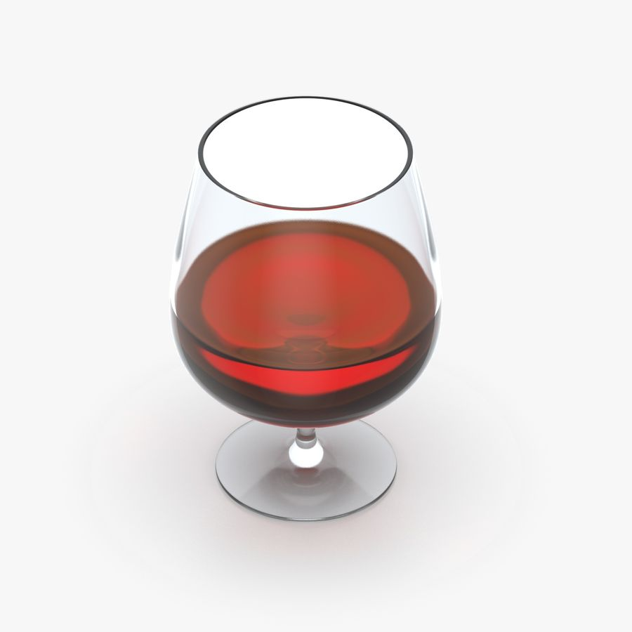 Cognac or Whiskey Glass royalty-free 3d model - Preview no. 3
