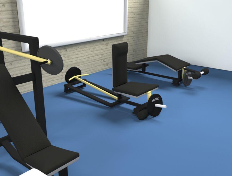 3d Wnętrze siłowni royalty-free 3d model - Preview no. 6