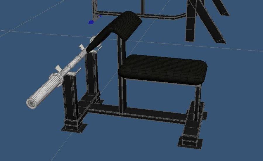 3d Wnętrze siłowni royalty-free 3d model - Preview no. 11