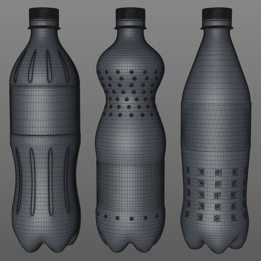 Soda Bottles royalty-free 3d model - Preview no. 12