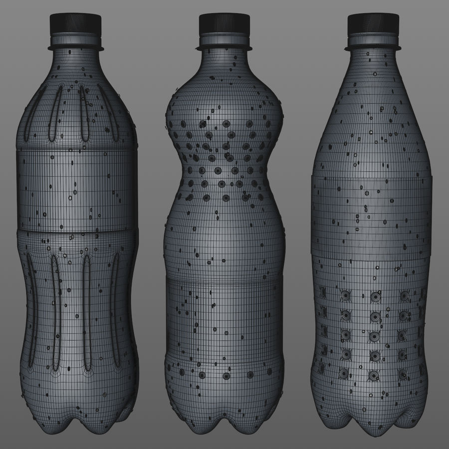 Soda Bottles royalty-free 3d model - Preview no. 13