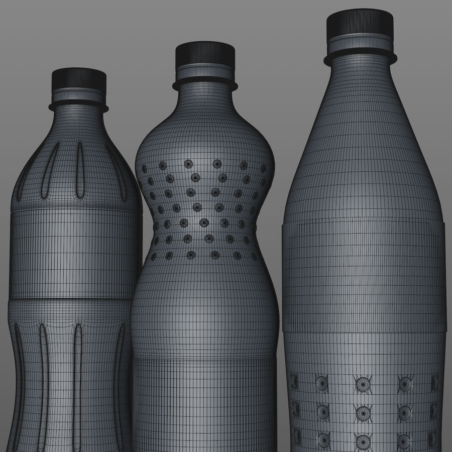Soda Bottles royalty-free 3d model - Preview no. 14