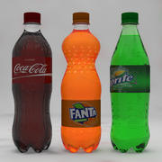 Soda Bottles 3d model