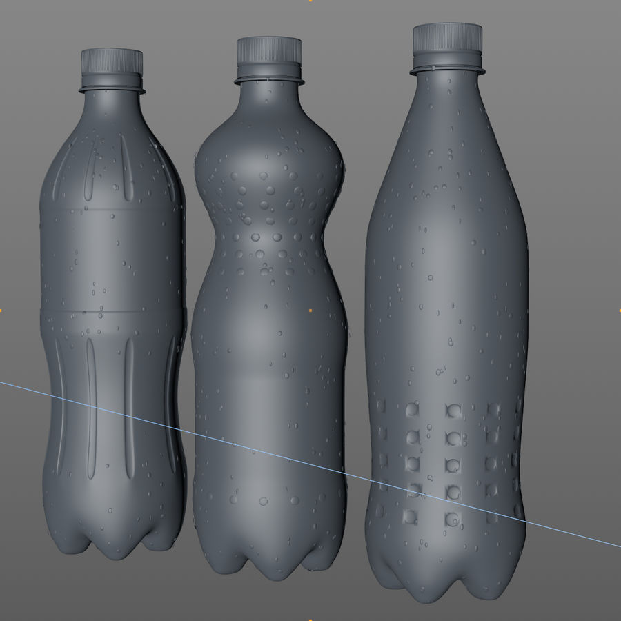 Soda Bottles royalty-free 3d model - Preview no. 21