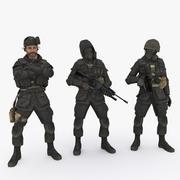 特种部队3种 3d model