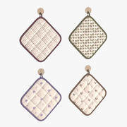 Rustic Quilted Pot Holders 3d model