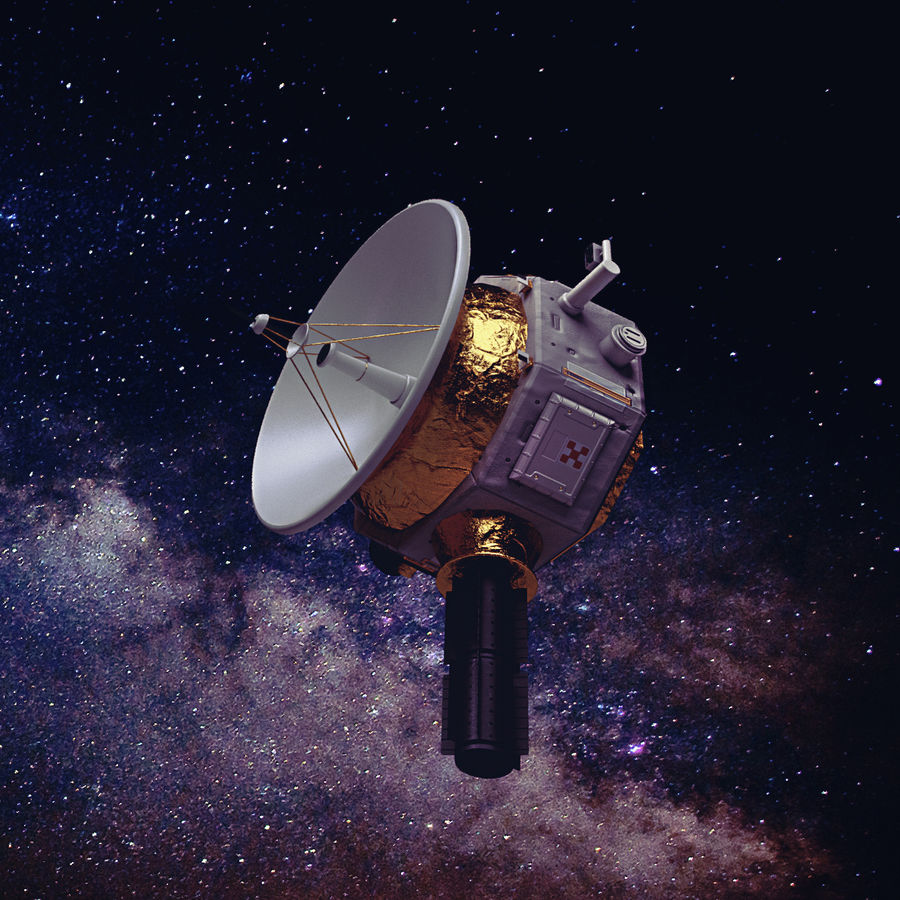 Deep Space Probe royalty-free 3d model - Preview no. 1