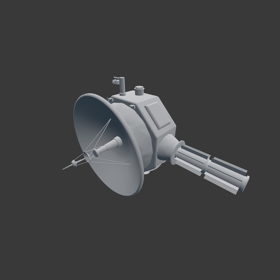 Deep Space Probe royalty-free 3d model - Preview no. 7