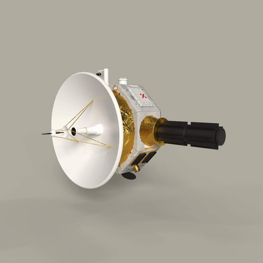 Deep Space Probe royalty-free 3d model - Preview no. 4