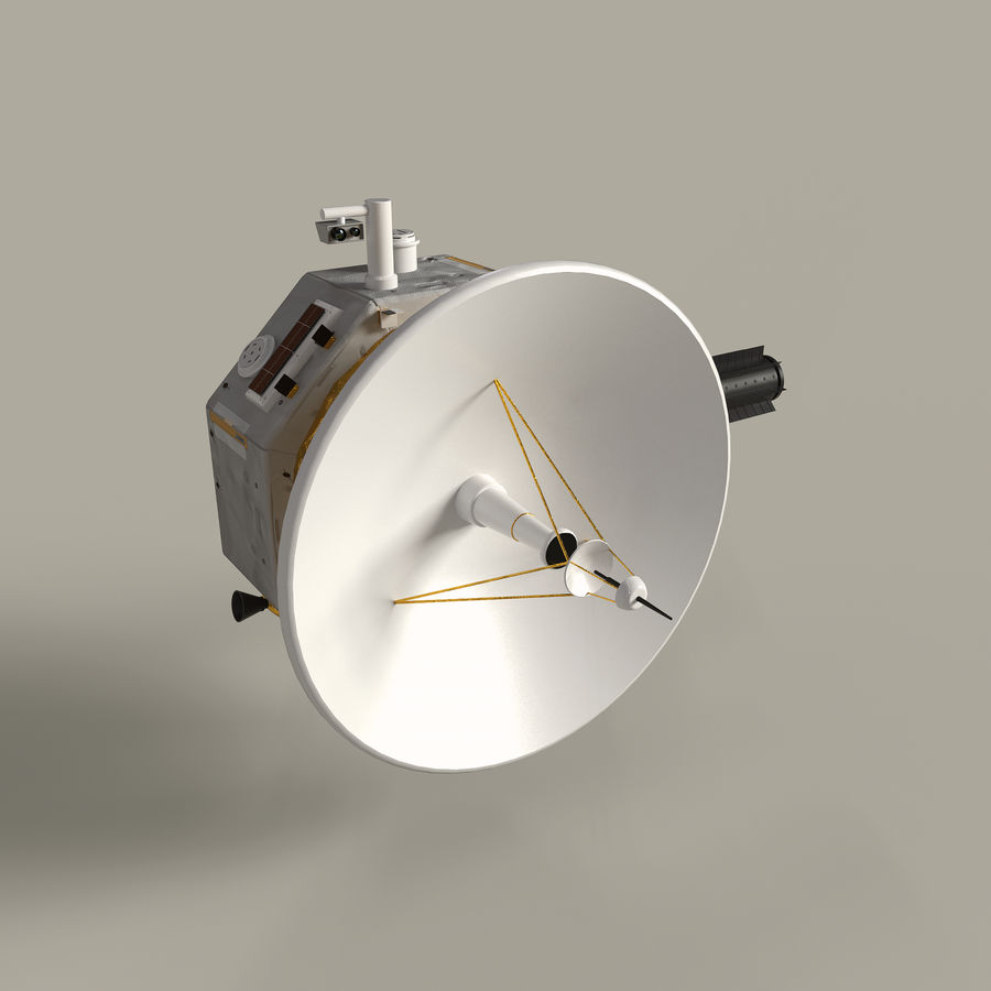 Deep Space Probe royalty-free 3d model - Preview no. 3