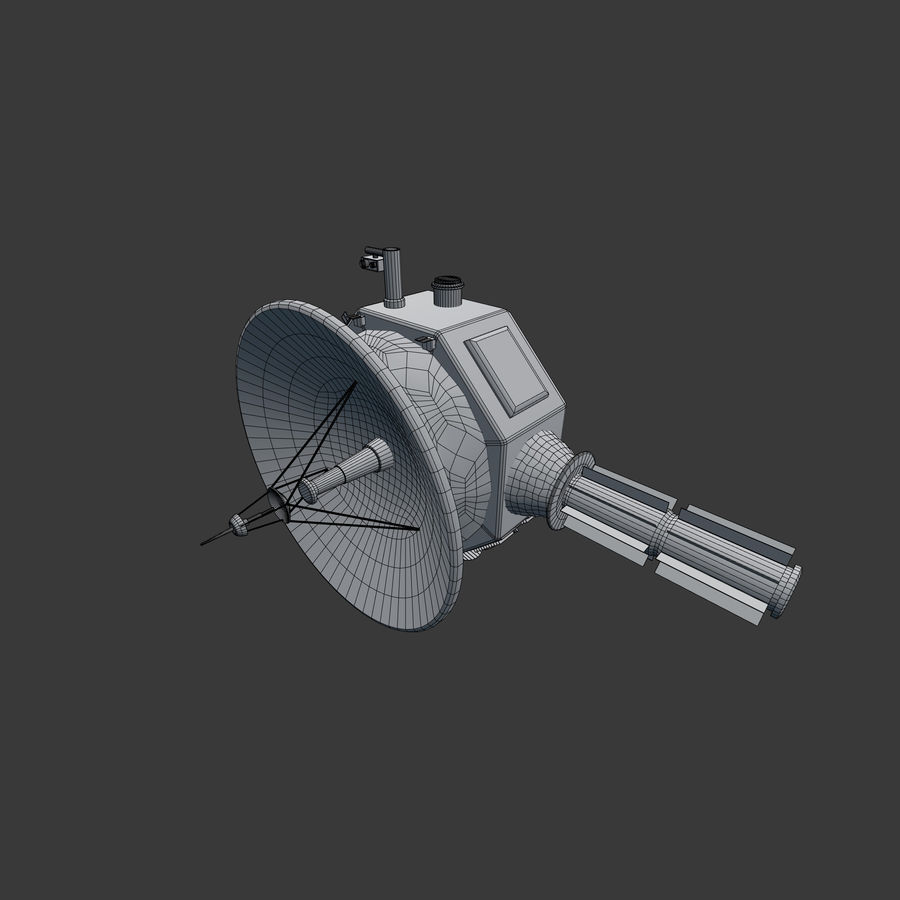 Deep Space Probe royalty-free 3d model - Preview no. 8