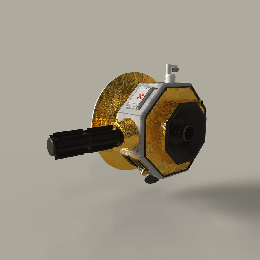 Deep Space Probe royalty-free 3d model - Preview no. 5