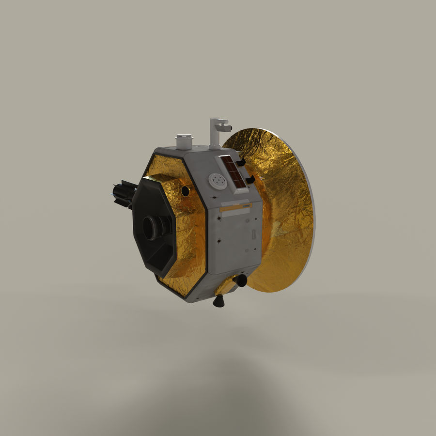 Deep Space Probe royalty-free 3d model - Preview no. 6