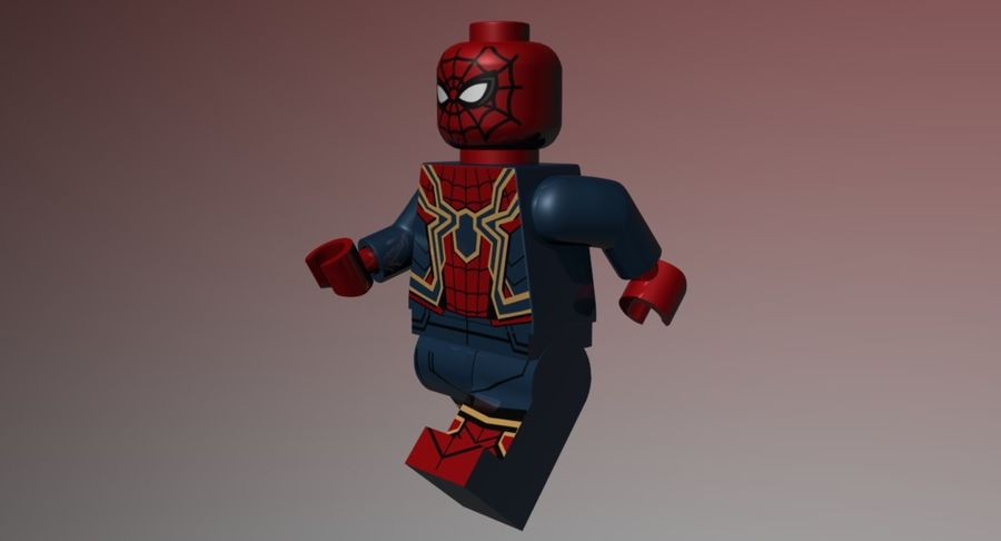 LEGO Spider-Man Iron Spider royalty-free 3d model - Preview no. 7