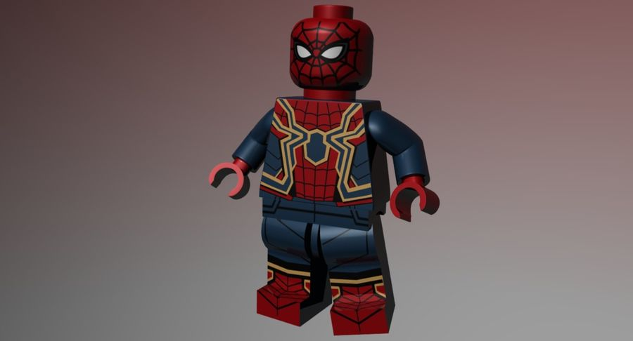LEGO Spider-Man Iron Spider royalty-free 3d model - Preview no. 8