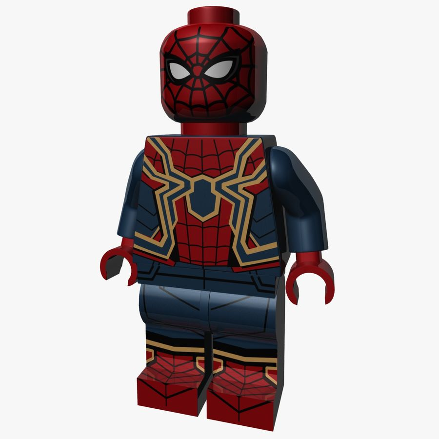 LEGO Spider-Man Iron Spider royalty-free 3d model - Preview no. 1