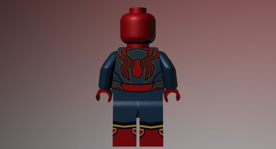 LEGO Spider-Man Iron Spider royalty-free 3d model - Preview no. 4