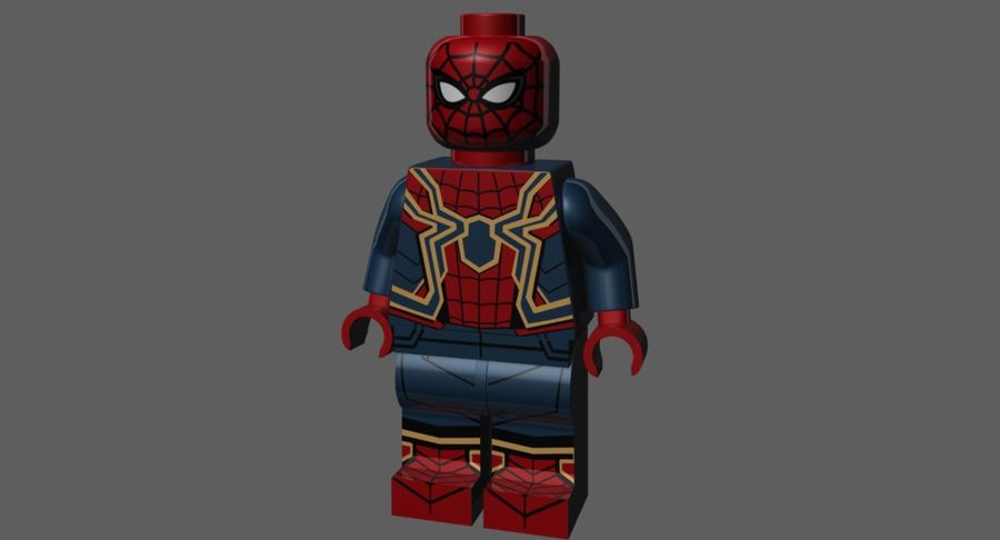 LEGO Spider-Man Iron Spider royalty-free 3d model - Preview no. 2