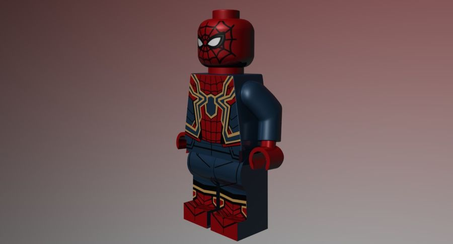 LEGO Spider-Man Iron Spider royalty-free 3d model - Preview no. 6