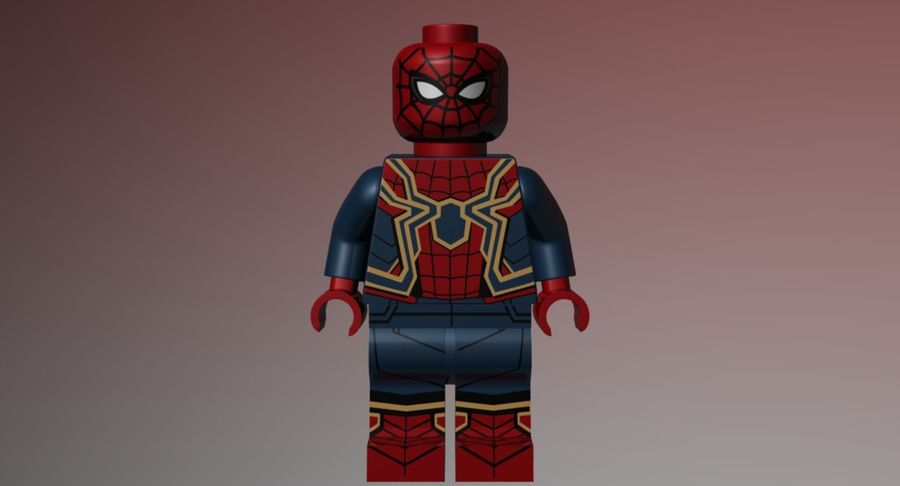 LEGO Spider-Man Iron Spider royalty-free 3d model - Preview no. 3