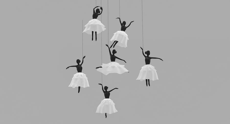 Decoración colgante de ballet royalty-free modelo 3d - Preview no. 2
